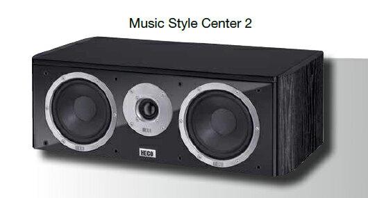 <br/><br/>  HECO 德國原裝進口喇叭 2音路低音反射式中置喇叭 music style Center 2<br/><br/>