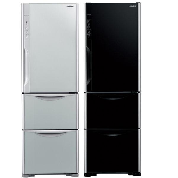 HITACHI 日立 385公升 變頻3門冰箱 RG41WS ★精品級琉璃時尚外觀