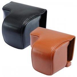 KAMERA Sony ILCE-6000 A6000 兩件式皮質相機包-黑/咖啡 A6000L A6000Y A6000G A6000Z 適用