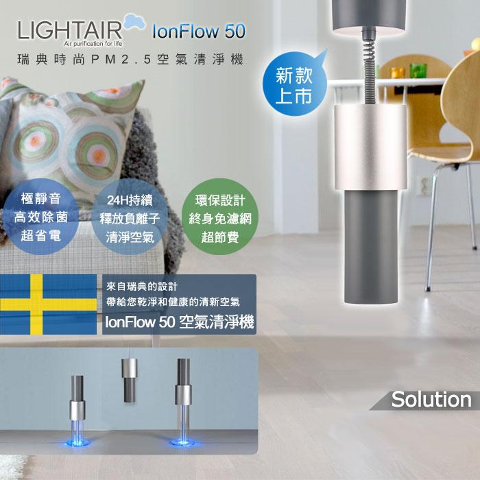 領券9折現折 瑞典LightAir IonFlow 50 Solution PM2.5 吊頂式精品空氣清淨機 適用15坪 總代理保固三年 優惠券代碼 4VJX-0WJ8-8QQT-LERK