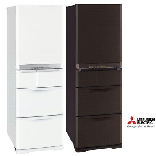 三菱 MITSUBISHI 日本原裝 420L變頻五門電冰箱(簡約白/都會棕)  MR-B42T ★2014/8/31前禮券大方送