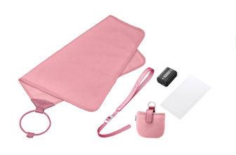 SONY NEX 組 ACC~FWGA 含:攝影包布、鋰電、手腕帶、保護貼、鏡頭蓋收納套