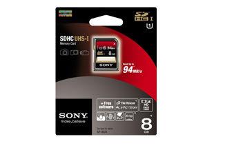 SONY SF-8UX SDHC-Class10 高速存取記憶卡 讀取速度高達94MB / s - 限時優惠好康折扣