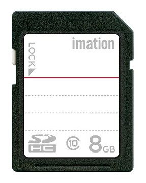 秀翔電器SS3C 【滿額結帳折$200】怡敏信imation 8GB class 10 SDHC 記憶卡 高速讀寫,大幅縮短檔案傳輸時間