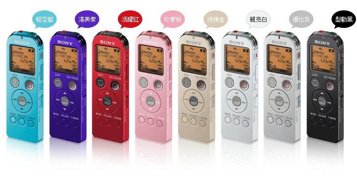 SONY ICD-UX523F 時尚4GB專業錄音筆 ICD-UX523 錄音/音樂/FM 可使用 Micro SD 卡擴充