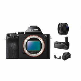 SONY A7 單眼相機(公司貨) + SEL35F28Z 超值組合 ★加贈電池(共2顆)+32G高速卡+拭鏡筆+保護貼+讀卡機!! ILCE7