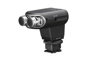 SONY 高音質立體聲麥克風 ECM-XYST1M 高動態收音範圍 可調整收音角度為 120 度或 0 度 需搭配 VCT-55LH 方可使用