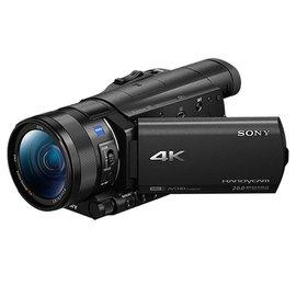 SONY FDR-AX100 4K高畫質記憶卡式攝影機(公司貨) ★贈長效電池(共2顆)+座充+碳纖維拭鏡筆+吹球清潔組