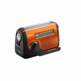 展示出清!! SONY 急難救助專用收音機 ICF-B88 可手搖、太陽能、USB 方式充電 LED 照明