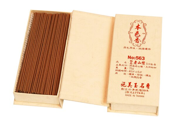施美玉本色香系列 極品老山檀 5寸臥香 NO:563 (6盒裝)