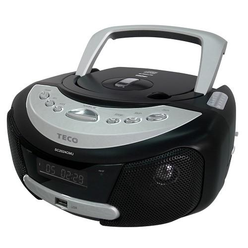 <br/><br/>  TECO 東元 手提式 CD/MP3/USB音響 SC2024CMU / 3.5mm音頻輸入插孔 / 支援讀取MP3 / 編曲設定<br/><br/>