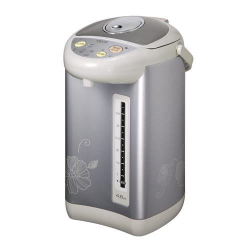 TECO 東元 電動熱水瓶 YD4809CB / 給水鎖定鍵 / 60度旋轉底座 / 馬口鐵機身