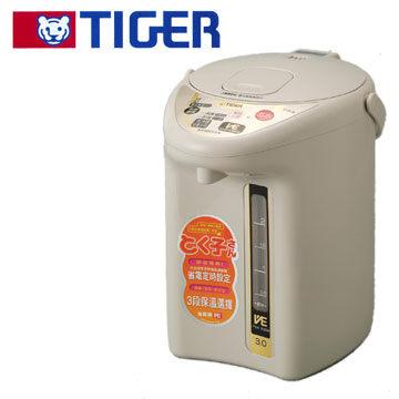 TIGER 虎牌 3公升VE真空保溫省電熱水瓶 PVH-B30R 12分鐘烹調定時計時器 省電3段保溫設定