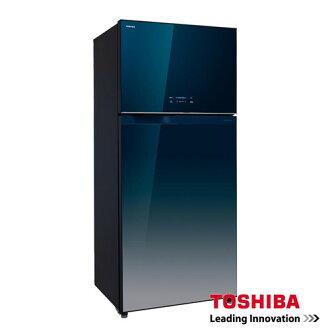 TOSHIBA 東芝 608L雙門變頻玻璃鏡面冰箱 GR-WG66TDZ(GG)(ZW)◆微電腦觸控,調控冷凍室溫度 ◆變頻靜音壓縮機設計