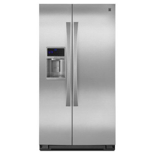 Sears 美國熙爾仕楷模 ~ 菁英型 金冠對開門製冰冰箱(不銹鋼門+灰色機體)【型號:51183】