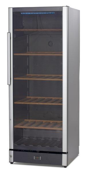 <br/><br/>  丹麥 VESTFROST 恆溫儲酒冰櫃 146瓶 W155 LED溫度顯示 雙溫度顯示器  煙燻色玻璃抗UV<br/><br/>