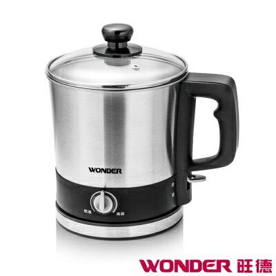 WONDER 旺德 多功能美食鍋 WH-K01 304不鏽鋼 底座94v0材質 透明玻璃蓋