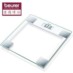 【 德國博依beurer】典雅方型玻璃體重計 GS14  ★採用安全強化玻璃面板