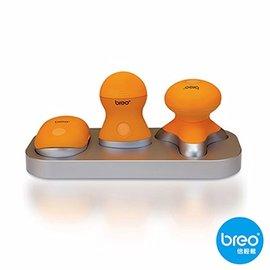 Breo 倍輕鬆 輕巧按摩器三件組 Mini319 特製35個無靜電按摩觸點 放鬆頭部壓力 M-319