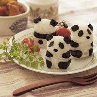 居家生活廚房用品推薦熊貓寶寶身形飯糰模具海苔刻板3件套組熊貓便當輕鬆做【AF240】《約翰家庭百貨 好窩生活節。就在約翰家庭百貨居家生活廚房用品推薦