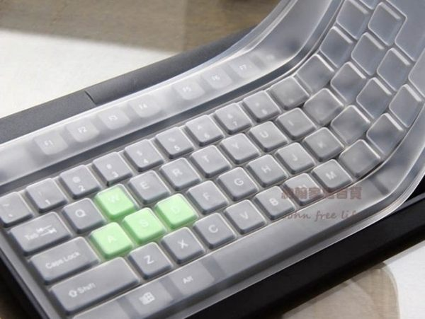約翰家庭百貨》【FA000】桌上型電腦鍵盤矽膠保護膜 透明鍵盤膜 防塵防水防