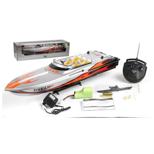 "Microgear 32"" PX-18 Wonderful Power Speed Racing RC Majesty 800 Boat Hi-Speed Watersports Toy - Red White"