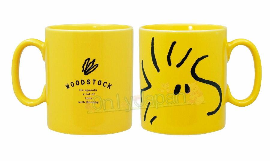 日本製馬克杯 500ml 塔克鳥 黃 史努比snoopy 馬克杯 水杯 杯子 單耳杯 瓷製 19030900001 真愛日本