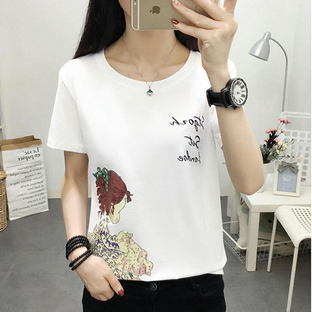 圓領寬鬆短袖T恤(5色M~5XL)【OREAD】 4