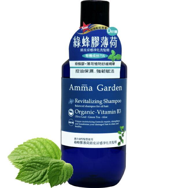 艾瑪花園綠蜂膠薄荷頭皮涼感淨化洗髮精300ml