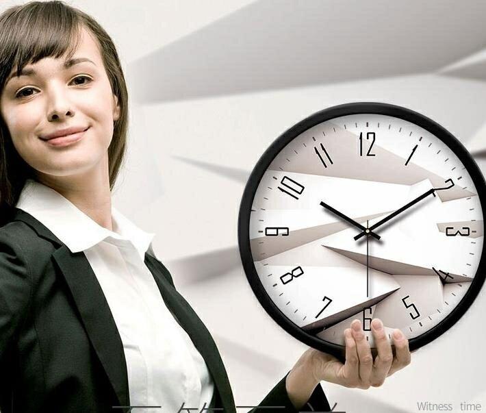 時鐘摩門鐘表掛鐘客廳創意現代時鐘石英鐘表掛表臥室靜音個性大號壁鐘 DF 萬聖節狂歡