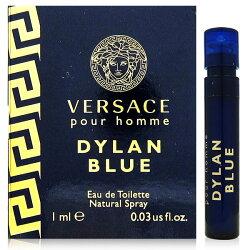【凱希恩香水美妝】VERSACE凡賽斯 狄倫.正藍男性淡香水 針管1ml