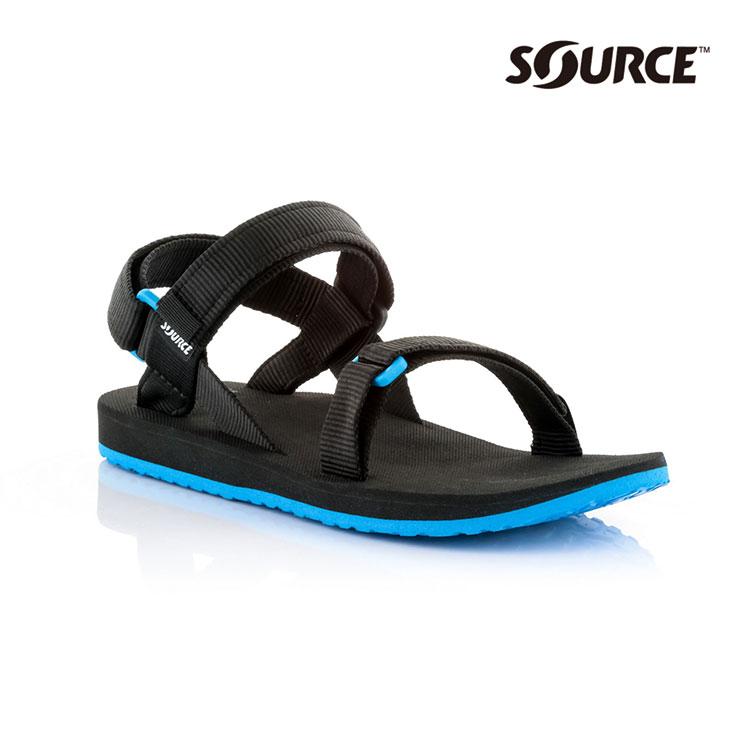 SOURCE 男URBAN織帶涼鞋10109100【黑藍】 / 城市綠洲(織帶、輕量、快乾、抑菌)