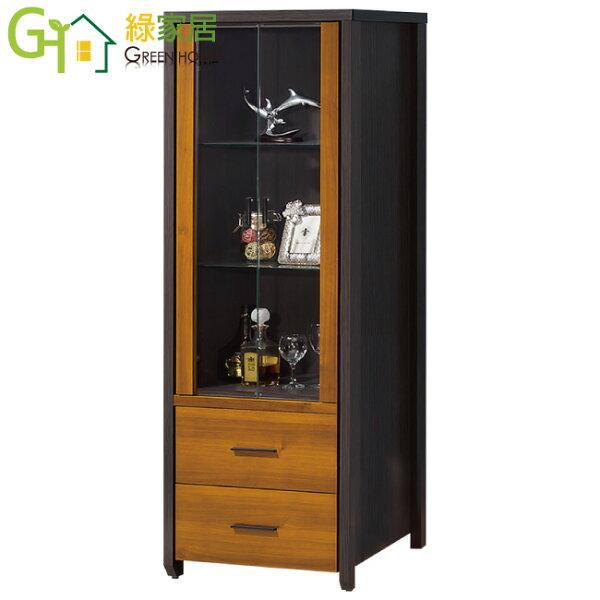 【綠家居】凱薩妮時尚2.2尺二門二抽展示櫃收納櫃
