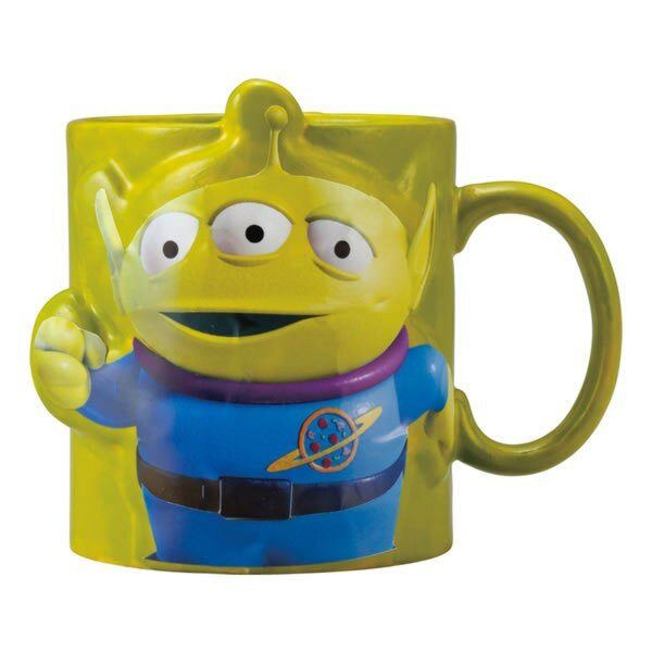 【真愛日本】15122400009 2D立體馬克杯-三眼怪綠 迪士尼 玩具總動員 TOY 茶杯 水杯 餐具