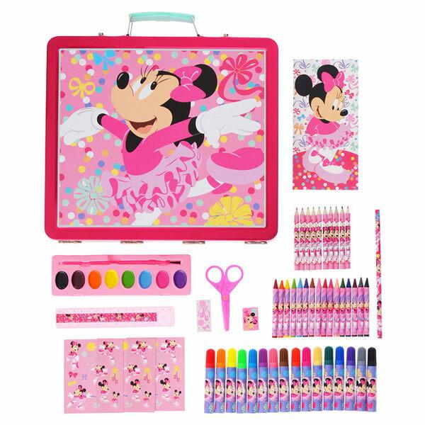 日本直送 東京Disney store限定 米妮/冰雪奇緣 文具組 鐵盒