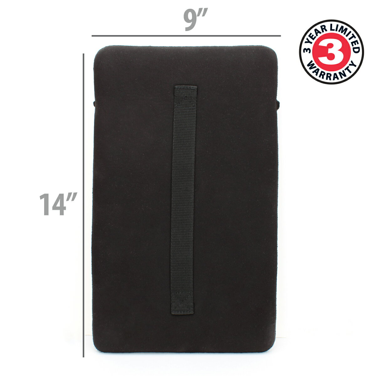 Neoprene Tablet Sleeve w/ Carrying Handle , Accessory Pocket & Impact Resistant Material by USA Gear 1