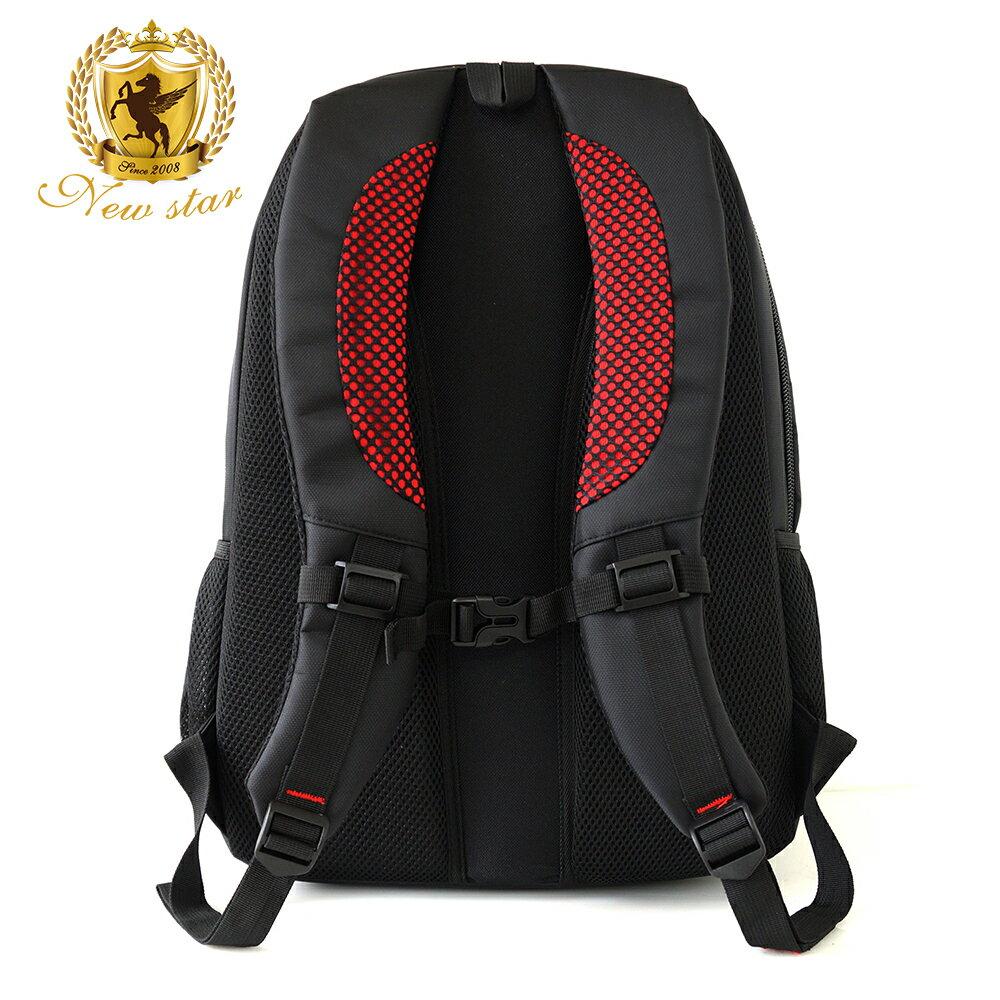 時尚簡約防水極簡雙層後背包電腦包 NEW STAR BK240 3