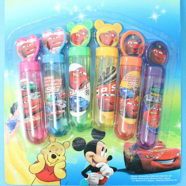 汽車總動員泡泡水 6瓶入神奇吹泡泡水玩具 迪士尼正版授權/一卡6瓶入{促99}