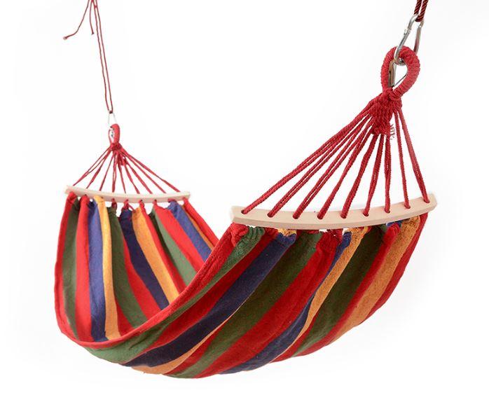 《沛大建材》$225  鞦韆 民族風 輕便 吊床 戶外降落傘布 露營吊床 單人 雙人 吊床 休閒吊床【S41】 1