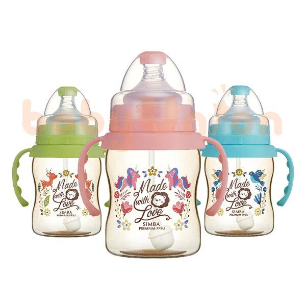 Simba小獅王辛巴-桃樂絲-PPSU自動把手寬口葫蘆小奶瓶200ml