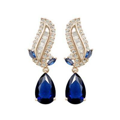 玫瑰金耳環925純銀鑲鑽耳飾~ 高貴典雅氣質生日情人節 女飾品2色73gs260~ ~~米