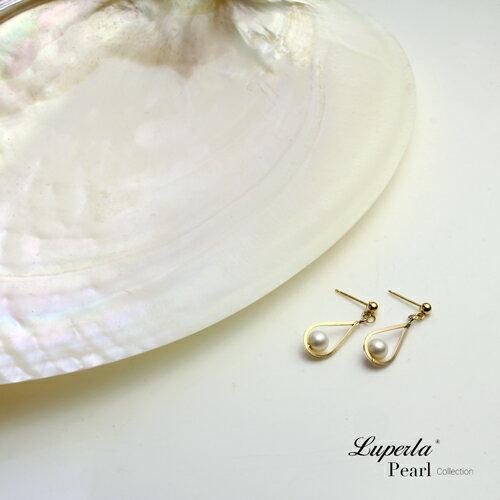 大東山珠寶 珍藏 14K金天然淡水珍珠耳環 歐美古典編織珠寶 3