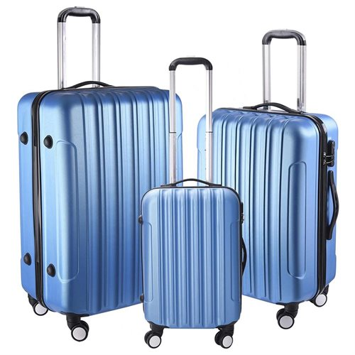 3pc ABS 20 24 28 Traveling Spinner Luggage Rolling Case Trolley Suitcase Set
