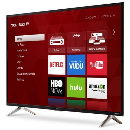 "TCL S 32S305 32"" 720p LED-LCD TV - 16:9 - 1366 x 768 - Dolby Digital Plus - 5 W RMS - LED Backlight - Smart TV - 3 x HDMI - USB - Ethernet - Wireless LAN - PC Streaming - Internet Access 1"