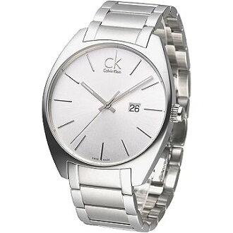 CK 魅力極簡風大錶徑男錶-白(K2F21126)