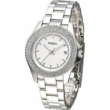 HANNA時計腕錶 FOSSIL手錶 晶華風尚高雅淑女錶-白(AM4452)
