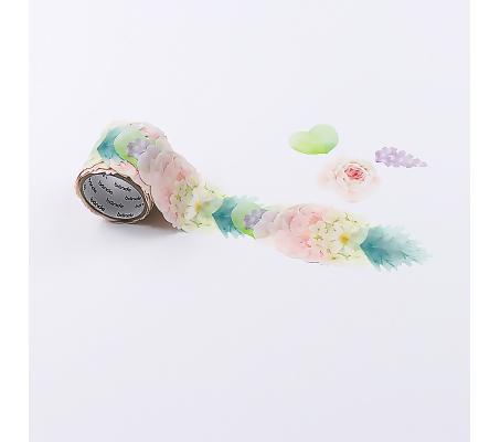 【日本Bande】紙膠帶系列自由配貼紙BDA273金鳳繡球捲