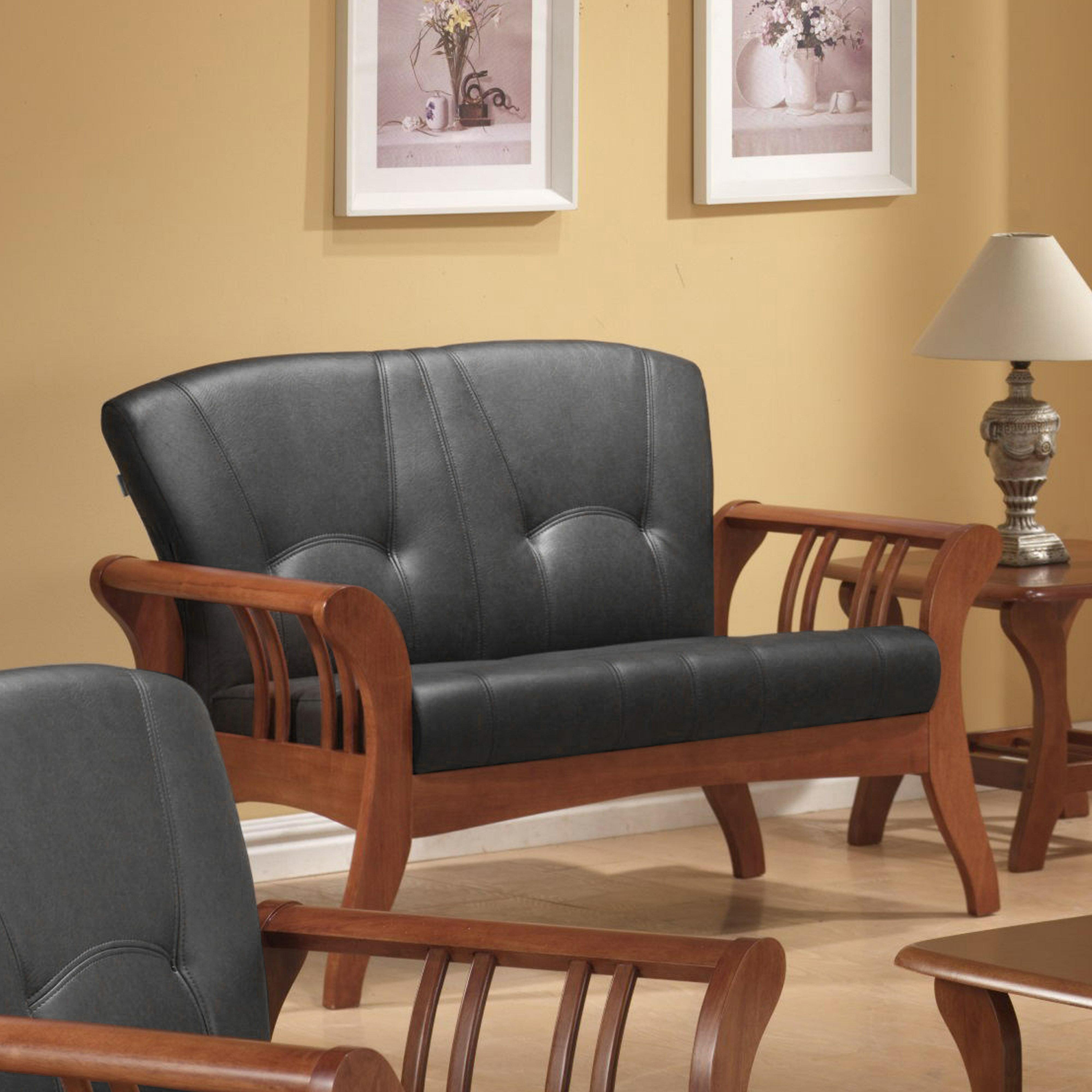 《伊豆》(促銷免運)卡其 二人沙發 全實木 二人位沙發 二人座 皮沙發 木製沙發 工廠直營 辦公沙發 組椅 !新生活家具! 樂天雙12