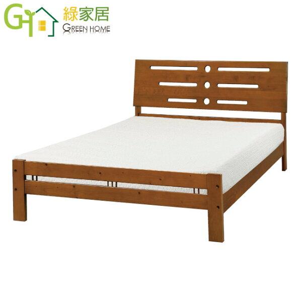 【綠家居】朱特時尚6尺實木雙人加大床台(不含床墊)