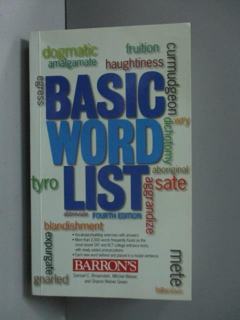 ~書寶 書T1/原文書_ORT~Basic Word List_Brownstein